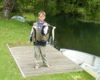 Trout Fishing at Holiday Park in Rotorua